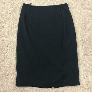 14th & Union Women's Black Lined Pencil Skirt